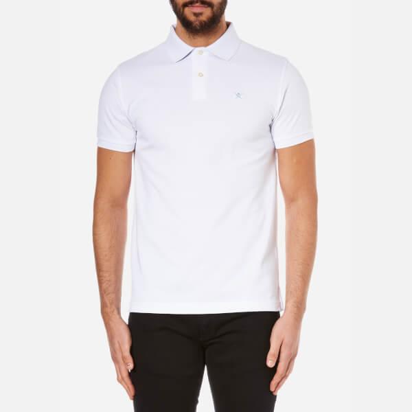 914f6e43feea Hackett London Men s Tailored Logo Polo Shirt - White Blue Clothing ...