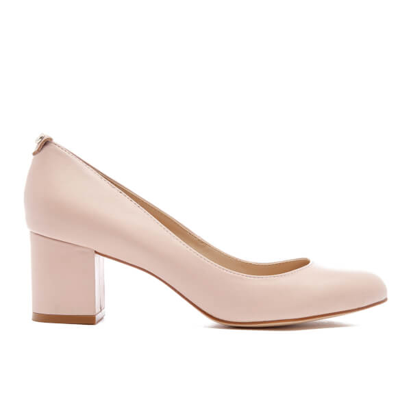 Dune Women's Atlas Leather Mid Heeled Court Shoes - Nude