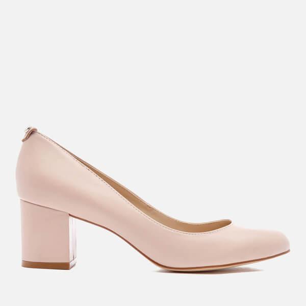 e2de04bb4ff5d Dune Women s Atlas Leather Mid Heeled Court Shoes - Nude