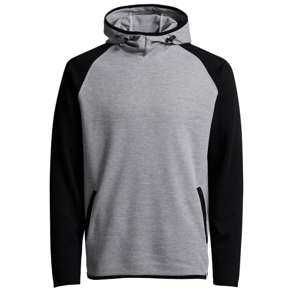 Jack & Jones Core Men's Jason Raglan Hoody - Light Grey Melange