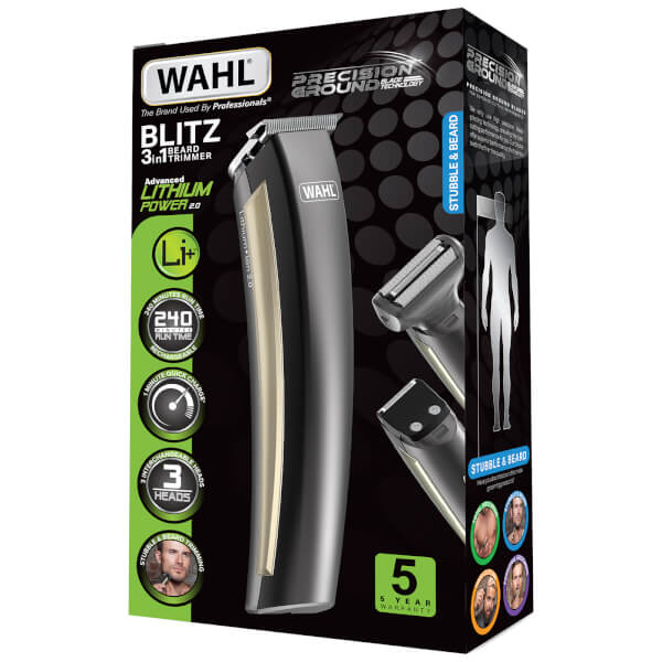 wahl lithium blitz beard trimmer free shipping lookfantastic. Black Bedroom Furniture Sets. Home Design Ideas
