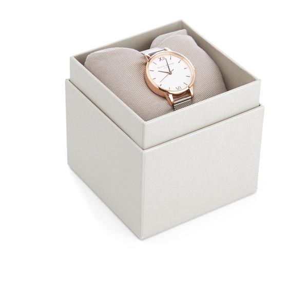 Olivia Burton Women s White Dial Mesh Watch - Rose Gold   Silver  Image 4 7dafba3b2b