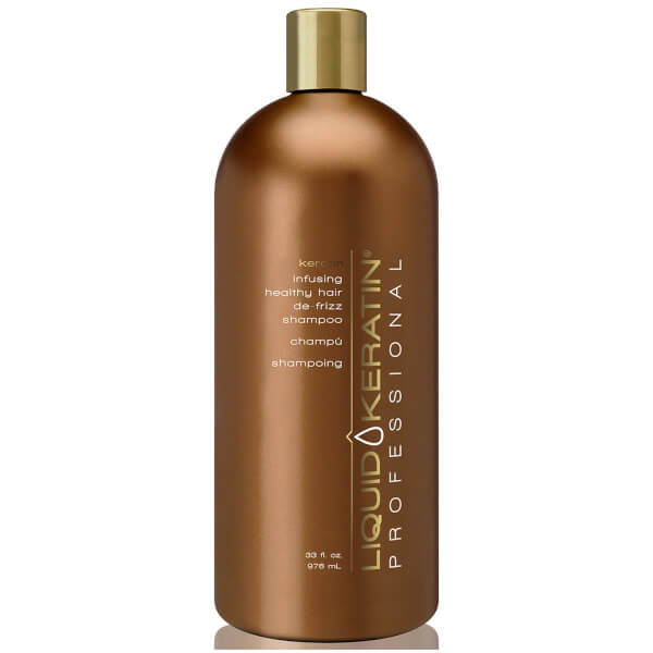 Liquid Keratin Professional Keratin Infusing Healthy Hair De-Frizz Shampoo (33oz)