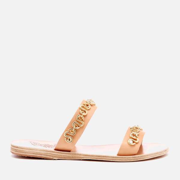 Ancient Greek Sandals Women's Poulia Hardware Double Strap Vachetta Leather Sandals - Natural - EU 36/UK 3 CK7ZOcbPt