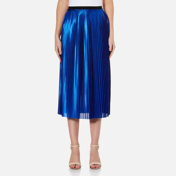 By Malene Birger Women's Miqiau Pleated Midi Skirt - Cobalt