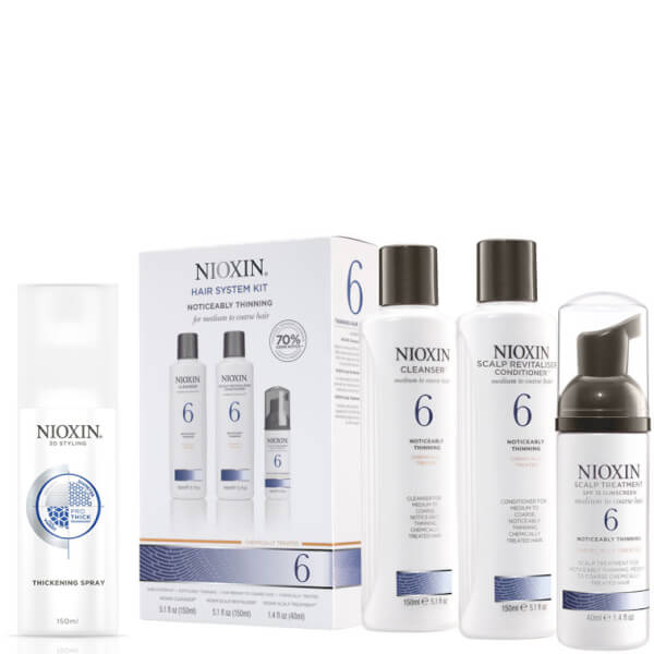 NIOXIN Hair System Kit 6 y Spray Espesante Surtido