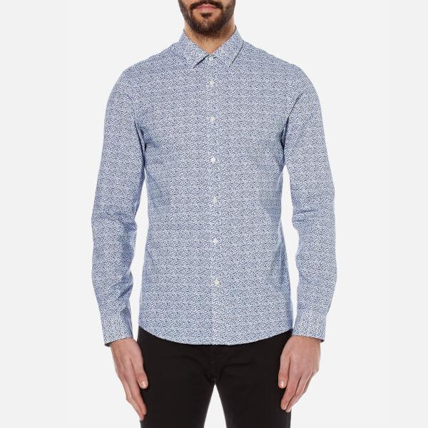Michael Kors Men's Slim Jackman Print Shirt - Navy
