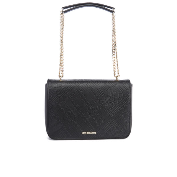 Love Moschino Women's Embossed Shoulder Bag - Black