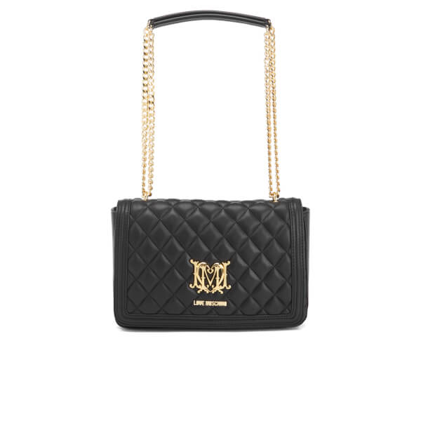 Love Moschino Women S Quilted Chain Tote Bag Black Image 1