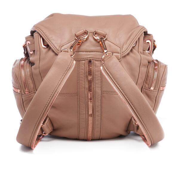 Alexander Wang Women s Mini Marti Latte Washed Leather Backpack - Latte   Image 8 811d1edae3