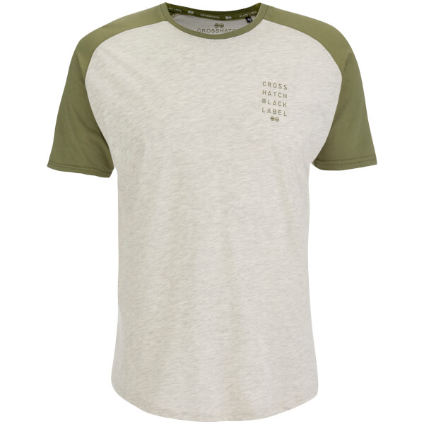 Crosshatch Men's Terrace T-Shirt - Silver Birch Marl/Dusty Olive
