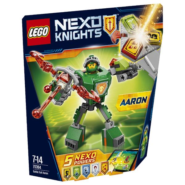 lego nexo knights battle suit aaron 70364 toys  zavvi