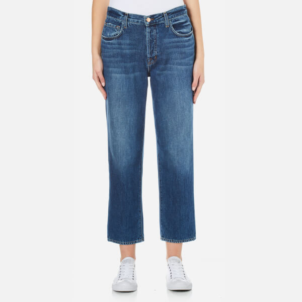 J Brand Women's Ivy High Rise Super Soft Denim Crop Straight Jeans - Entice