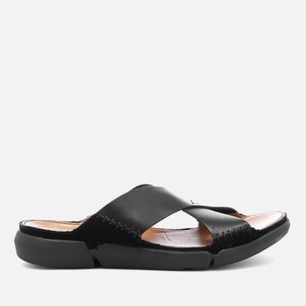 8b1e40cc9e23 Clarks Men s Trisand Cross Leather Sandals - Black