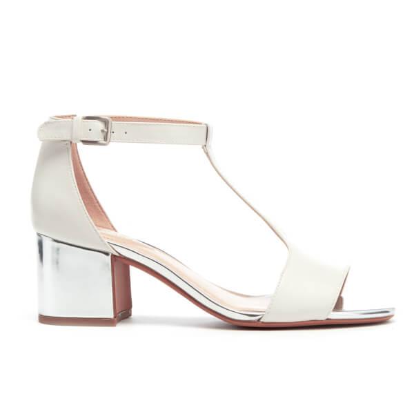 620df71b4ee Clarks Women s Barley Belle Leather T Bar Mid Heels - White Combi  Image 1