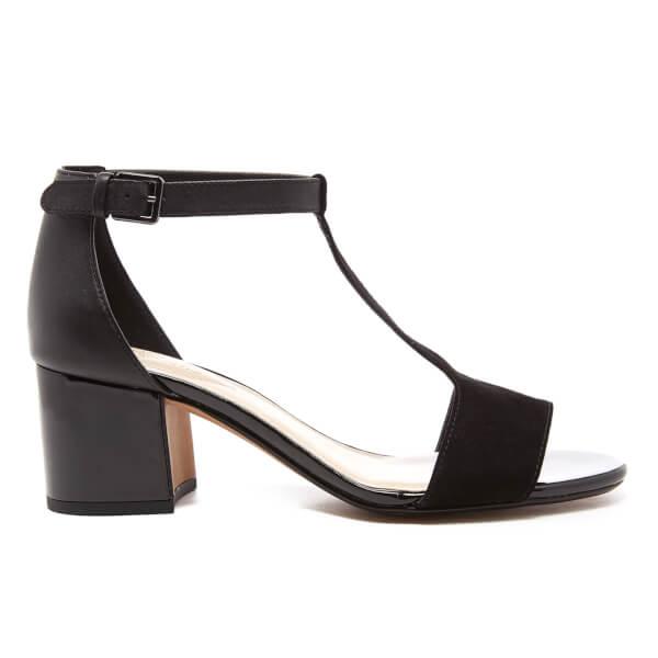 e0145e51d3c Clarks Women s Barley Belle Leather T Bar Mid Heels - Black Combi  Image 1