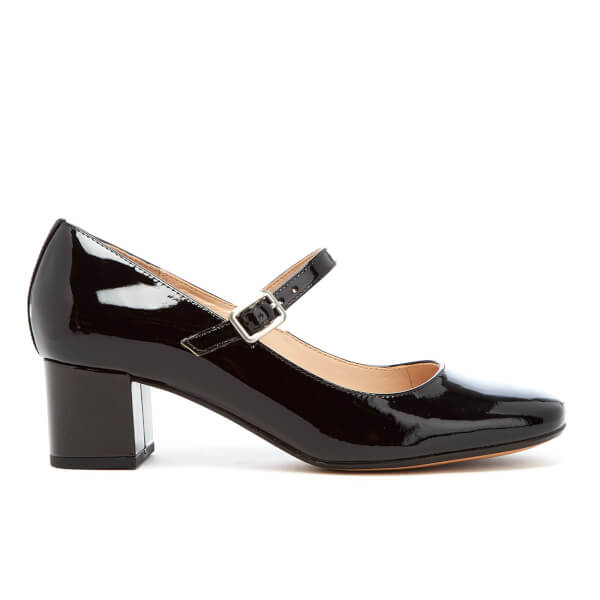 6f1c63195e10 Clarks Women s Chinaberry Pop Patent Mary Jane Mid Heels - Black  Image 1