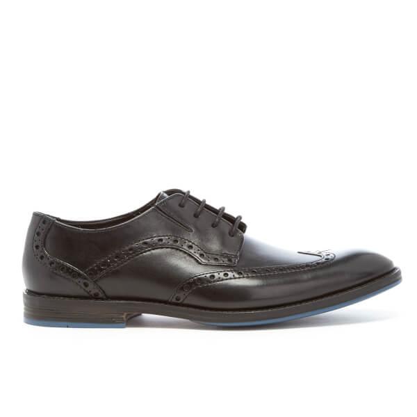 Clarks Men's Prangley Limit Leather Brogues - Black