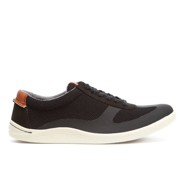 Clarks Men's Mapped Vibe Textile Runner Trainers - Black Combi