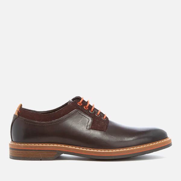 Clarks Men's Pitney Walk Leather Derby Shoes - Dark Brown  Image 1 109750bc5479