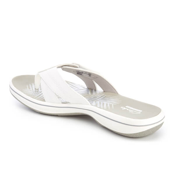 555ce6b7cbe9 Clarks Women s Brinkley Calm Toe Post Sandals - White Combi  Image 4