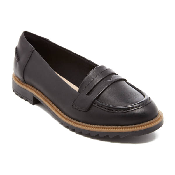 Clarks Griffin Milly Black Leather 5 UK E / 38 EU yfPqA91Q