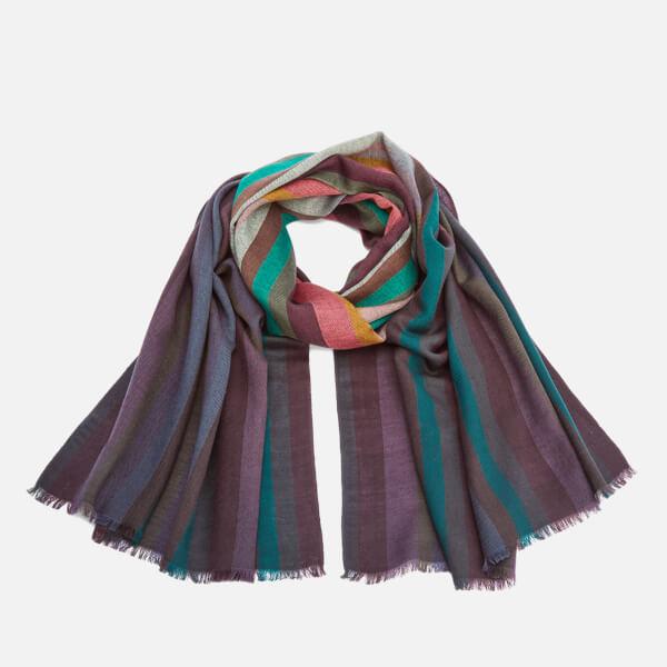 Paul Smith Men's Signature Stripe Wool Dip Dye Scarf - Multi