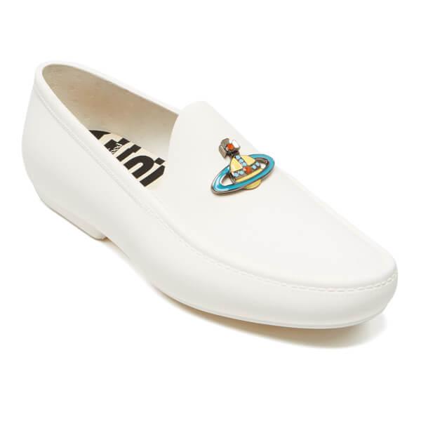 vivienne westwood s enamelled orb moccasin shoes