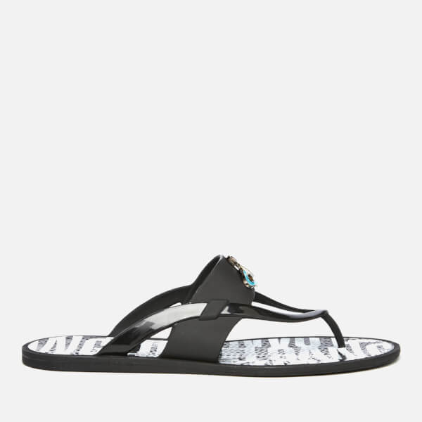 ff0a3dfe2144e Vivienne Westwood MAN Men s Orb Enamelled Flip Flops - Black  Image 1