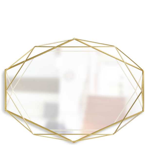 Umbra Prisma Geometric Mirror Brass Homeware TheHutcom