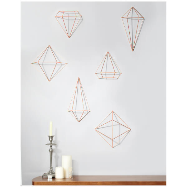 Umbra Feather Wall Decor : Umbra prisma wall decor copper iwoot