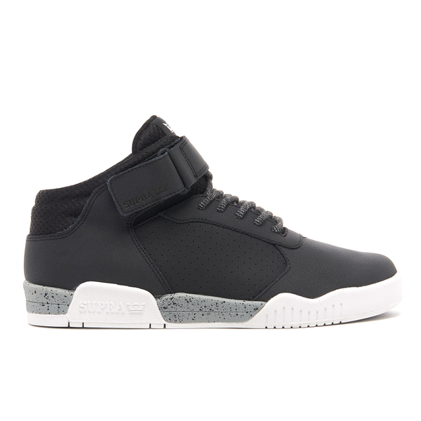 Supra Men's Ellington Strap Mid Top Trainers - Black