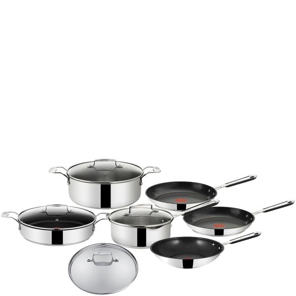 jamie oliver by tefal stainless steel 7 piece cookware set. Black Bedroom Furniture Sets. Home Design Ideas