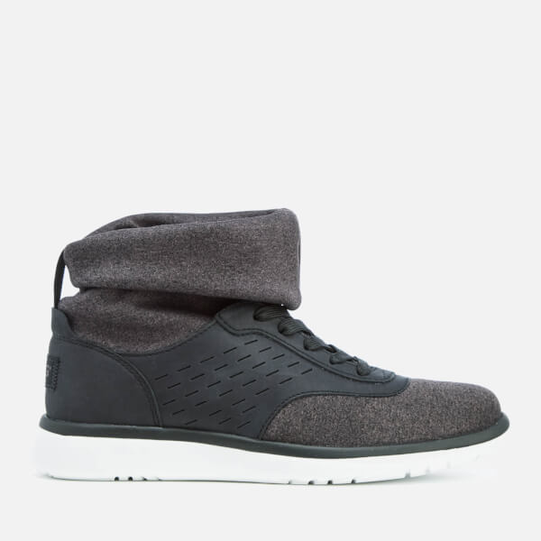 UGG Women's Islay Treadlite Knit Slouchy Collar Hi-Top Trainers - Black