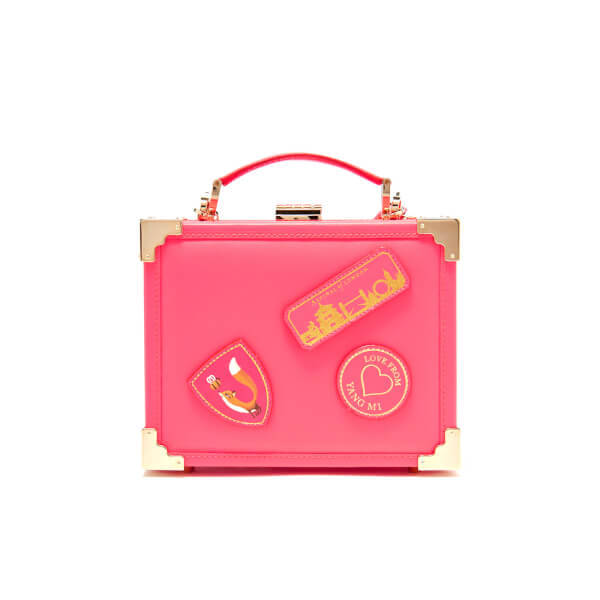 Aspinal of London Women's Yang Mi Trunk Clutch - Neon Pink