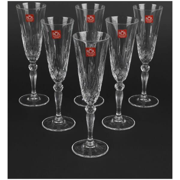 Flûtes de Champagne en Cristal RCR Melodia (Lot de 6)
