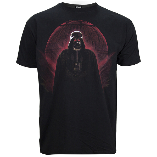 Star Wars Rogue One Men's Darth Vader Red Globe T-Shirt - Black