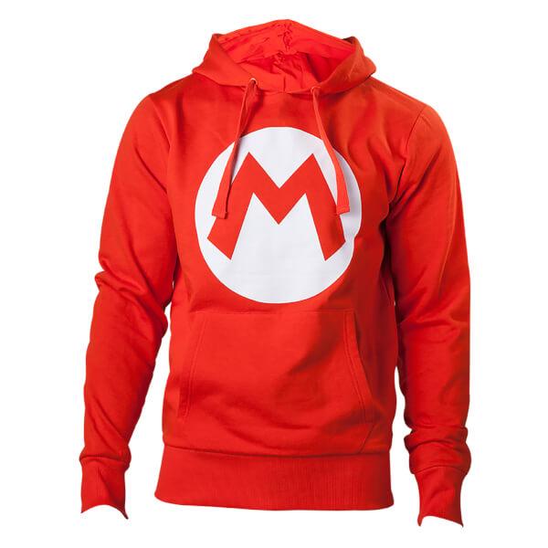 Mario M Logo Red Hoodie