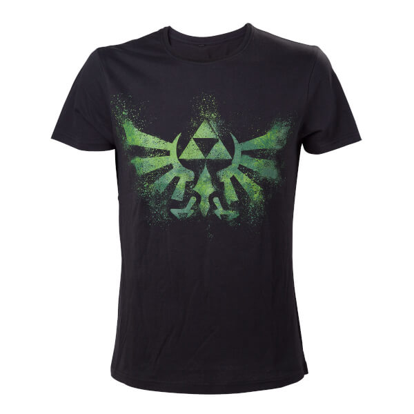 The Legend Of Zelda - Hyrule Crest T-Shirt (Black/Green)