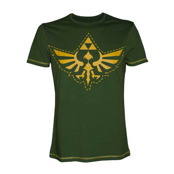 The Legend Of Zelda - Hylian Crest T-Shirt (Green/Gold)