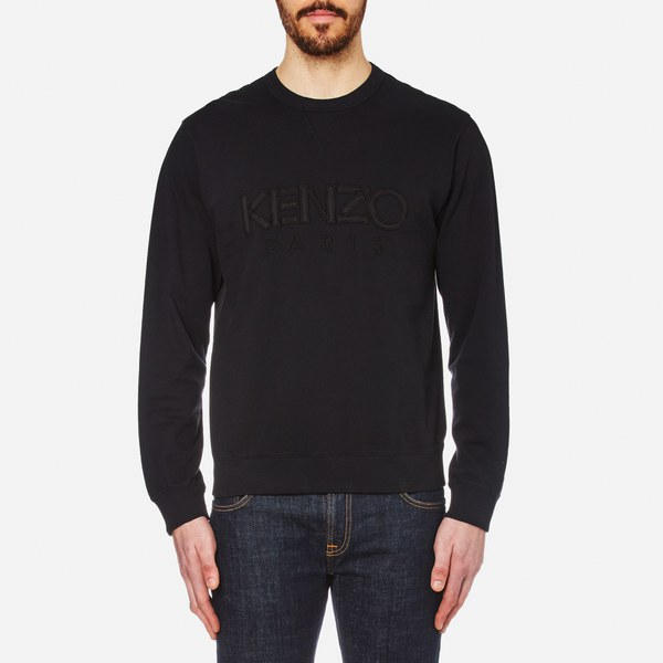 KENZO Men's Text Logo Sweatshirt - Black: Image 1