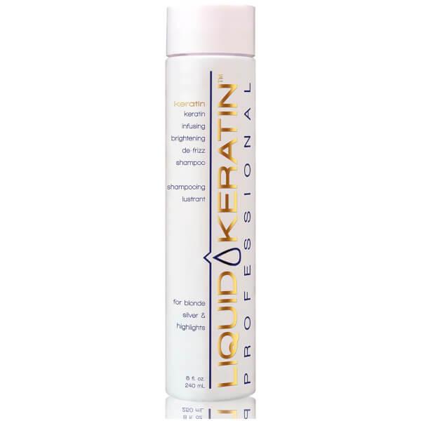 Liquid Keratin Infusing Brightening De-Frizz Shampoo (8oz)
