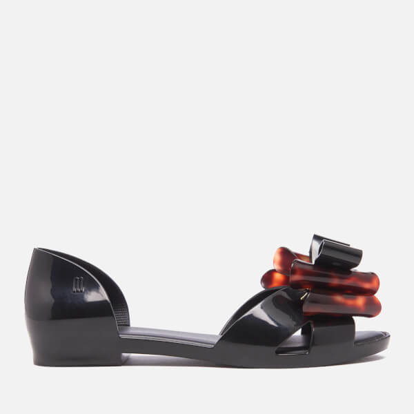 Melissa Women's Seduction Triple Bow Flats - Black Tortoiseshell