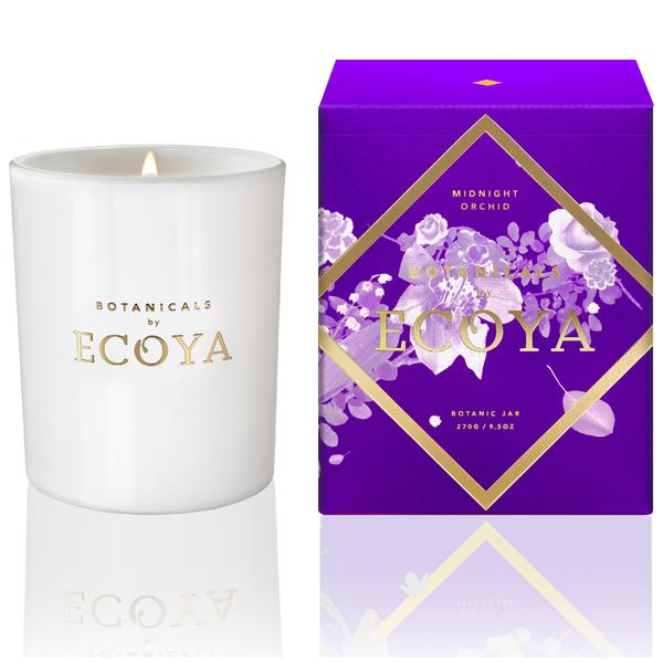 ECOYA Botanicals Evolution Midnight Orchid Candle - Metro Jar