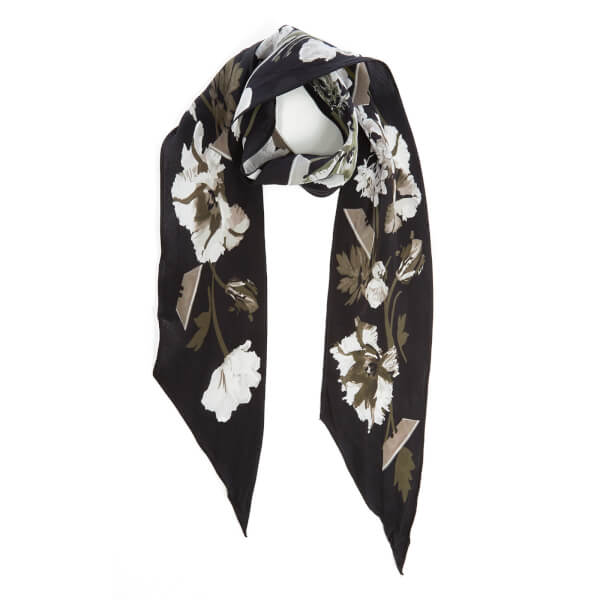 Rockins Women's Flora Super Skinny Scarf - Monochrome
