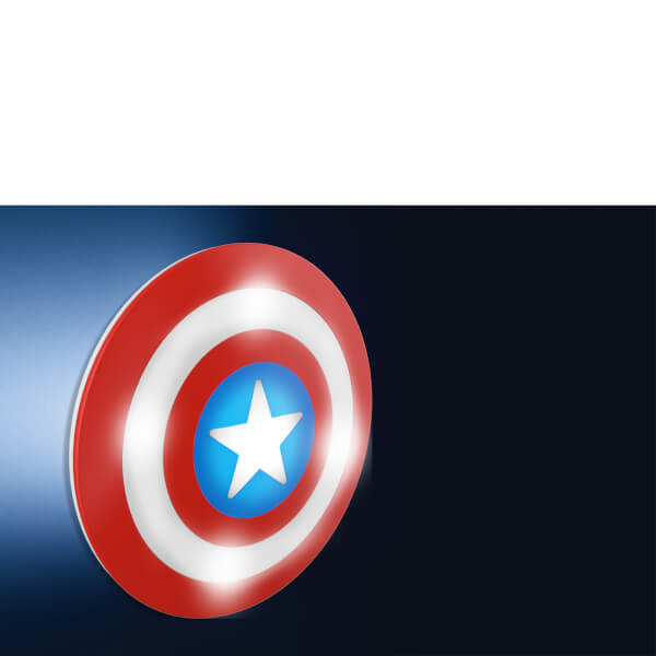 Marvel 3d wall light captain america shield gifts zavvi marvel 3d wall light captain america shield image 2 aloadofball Images