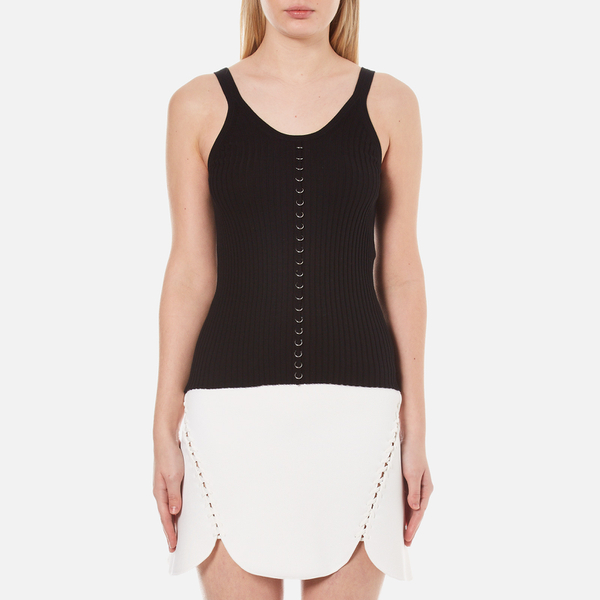 Alexander Wang Women's Ribbed Centre Front Piercing Tank Top - Matrix
