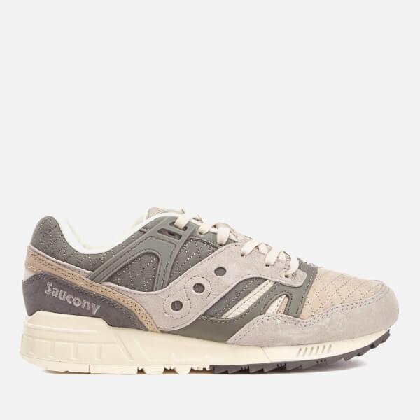 Saucony Men's Grid SD Quilted Heritage Trainers - Grey/Light Tan: Image 1