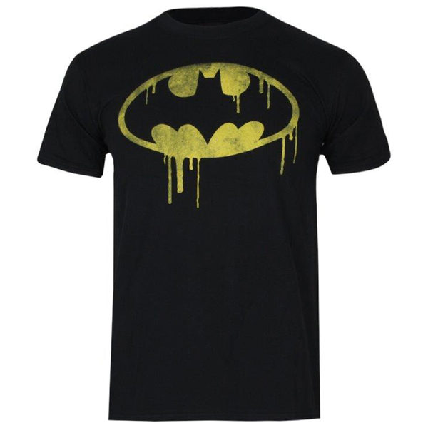 DC Comics Boys' Batman Dripping Logo T-Shirt - Black
