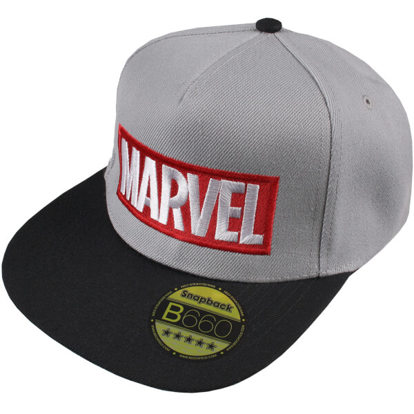 Marvel Men's Logo Cap - Grey/Black